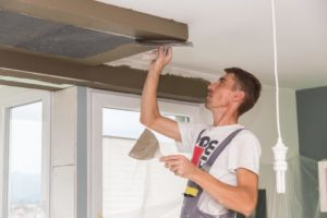 this picture shows chicago acoustic ceiling removal chicago