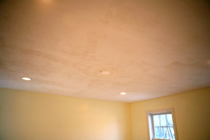 this image shows acoustic eciling removal chicago popcorn ceiling removal