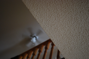 this picture shows chicago popcorn ceiling removal
